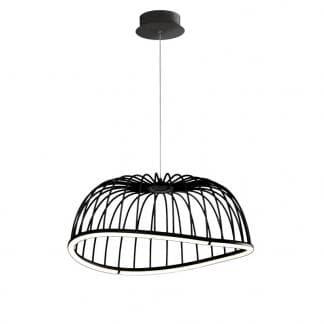 Lámpara de techo celeste Mantra negra mediana