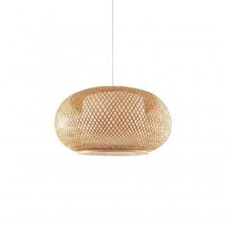lámpara de techo madera BREZO estilo nórdico