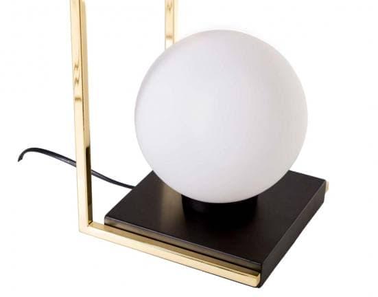 Lámpara de mesa dorada con bola blanca 9973 3