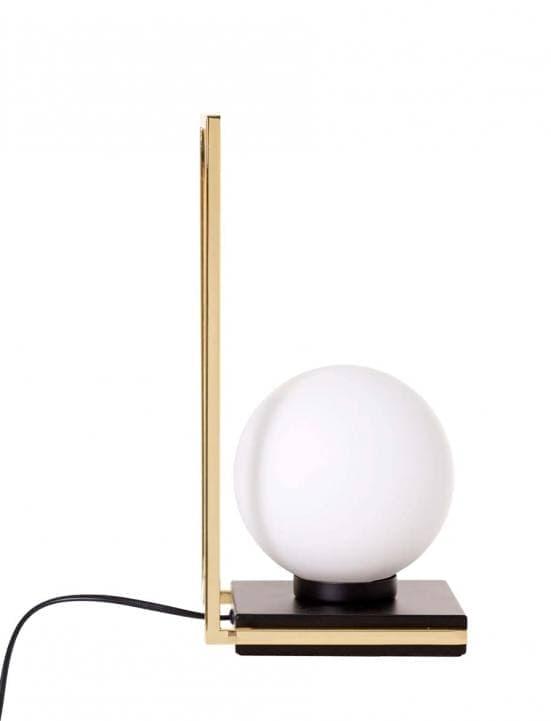 Lámpara de mesa dorada con bola blanca 9973 2