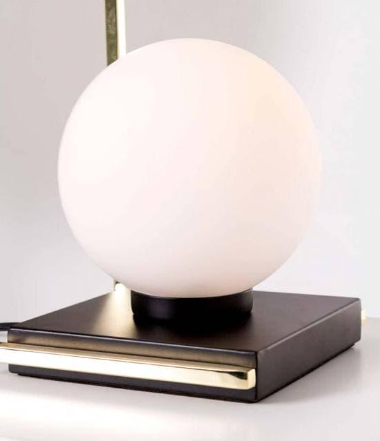 Lámpara de mesa dorada con bola blanca 9973 1