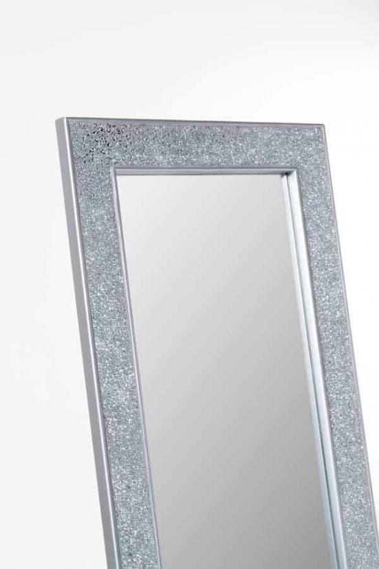 Espejo de pie plata mosaico 2