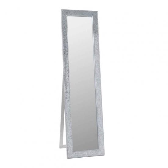 Espejo de pie plata mosaico