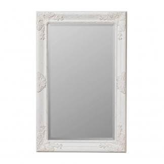 Espejo resina blanco decapado rectangular