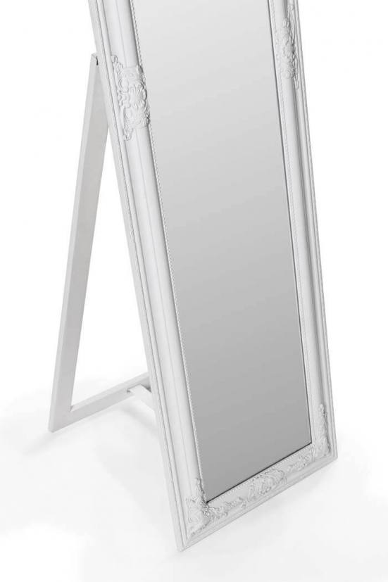 Espejo de pie vestidor blanco clásico 1