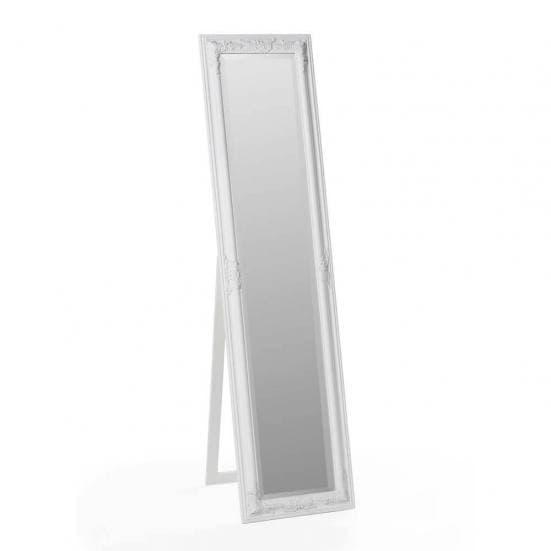 Espejo de pie vestidor blanco clásico