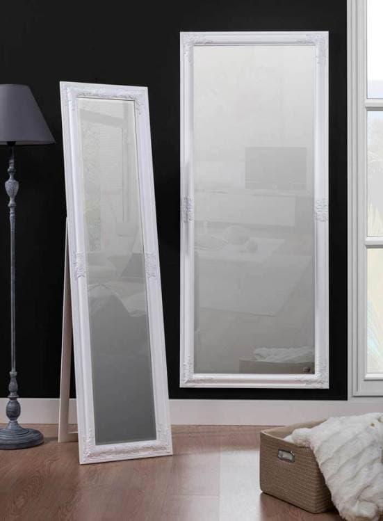 Espejo de pie vestidor blanco clásico decoración