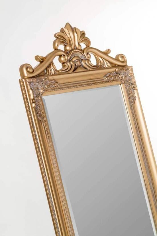 Espejo de pie art deco dorado 1