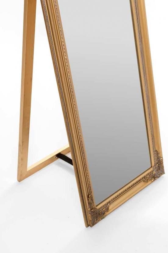 Espejo de pie art deco dorado 2