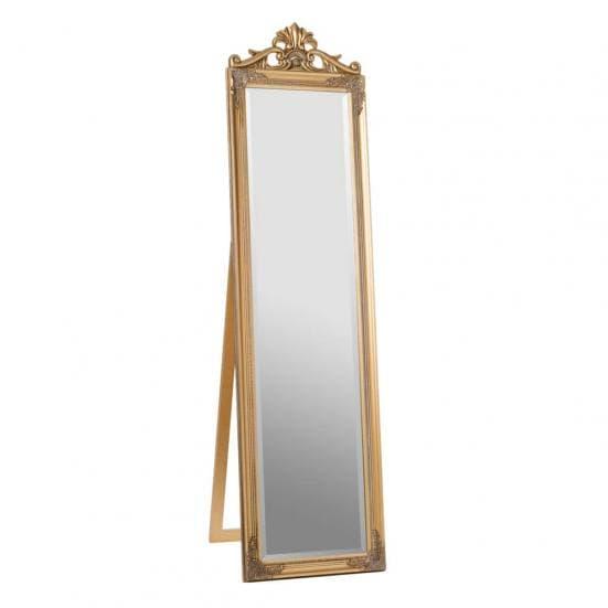 Espejo de pie art deco dorado