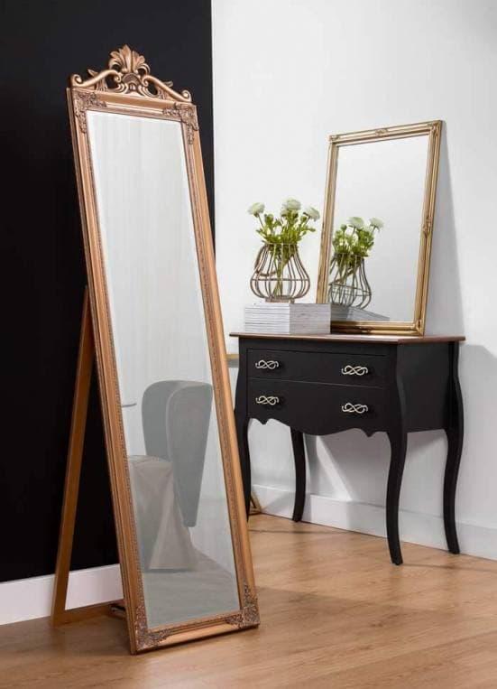 Espejo de pie art deco dorado decoración