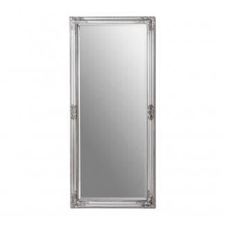 Espejo de pared plateado estilo clásico