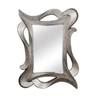 Espejo cuadrado plata envejecida