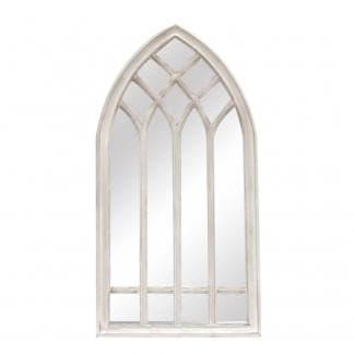 Espejo ventana blanca resina