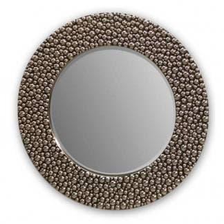 Espejo de pared redondo champagne brillo art deco