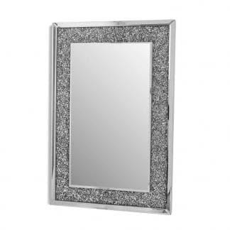Espejo vitrina con mosaico de cristalitos