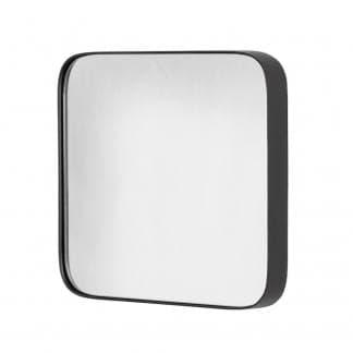 Espejo de esquinas redondas negro
