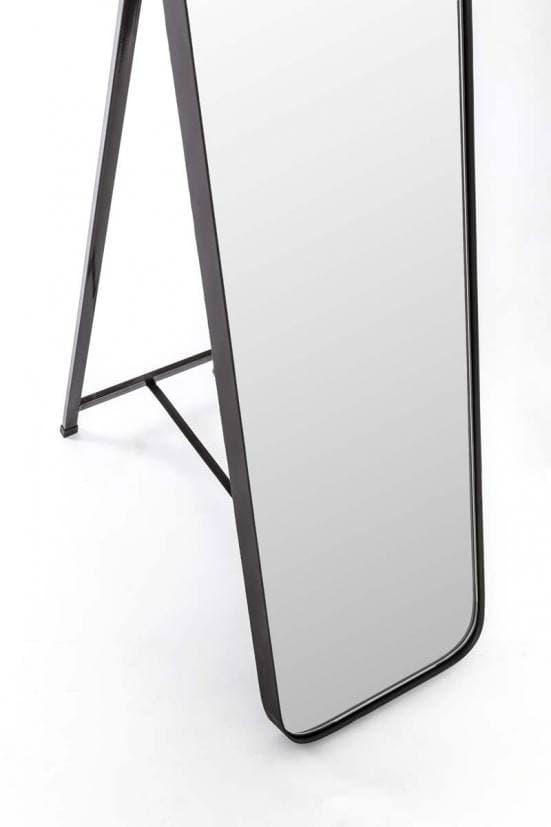 Espejo de pie esquinas redondas negro 2