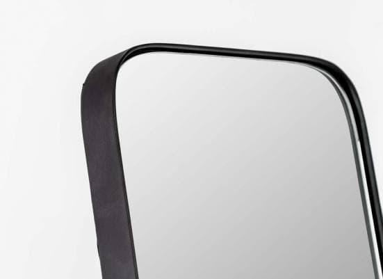 Espejo de pie esquinas redondas negro 1