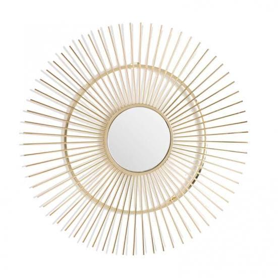 Espejo de metal dorado art deco