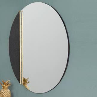 Espejo de mármol negro