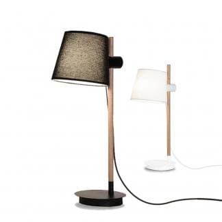 Lámpara de mesa nórdica blanca negra