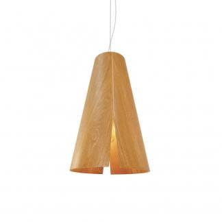 Lámpara de techo madera natural PEONIA