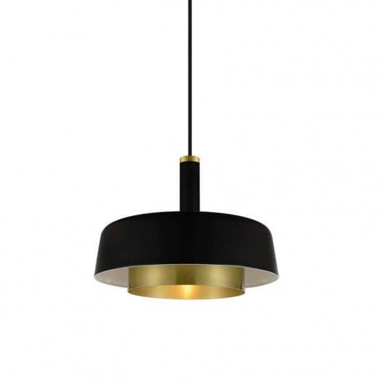 Lámpara de metal negro y dorado pequeña