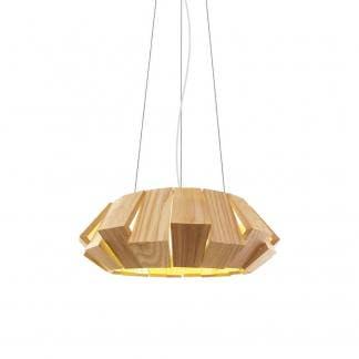 Lámpara de techo madera natural PALMERA