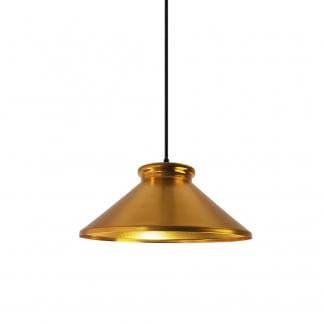 Lámpara colgante metálica dorada