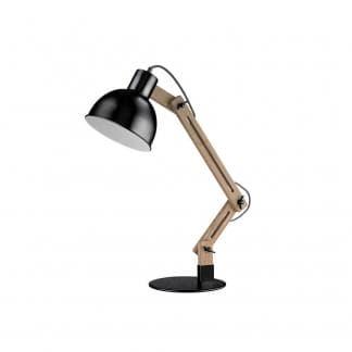 Lámpara de mesa madera y metal DAPHNE
