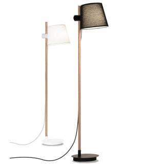 Lámpara de pie nórdica blanca negra