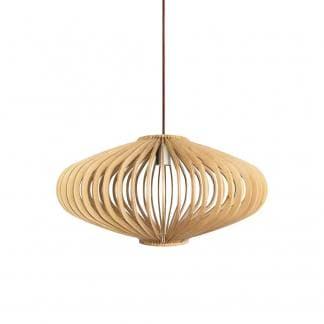 Lámpara de suspensión madera natural SAUCE