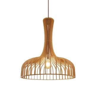 Lámpara de techo de madera AZAHAR