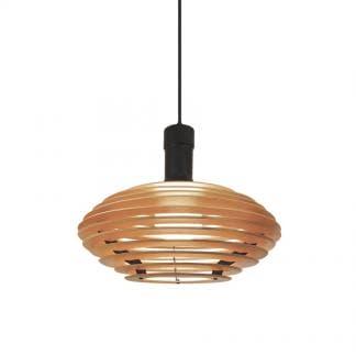 Lámpara de techo de madera AZUCENO