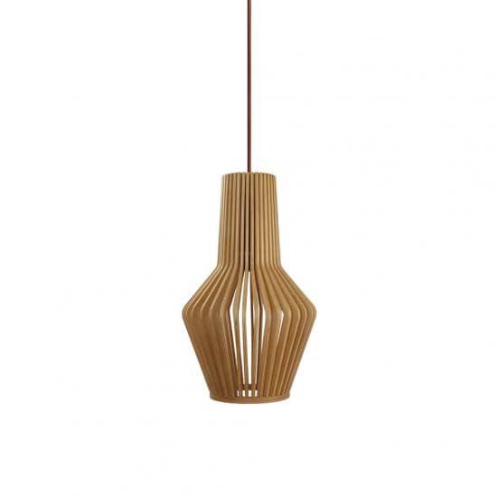 Lámpara de techo madera natural MINA