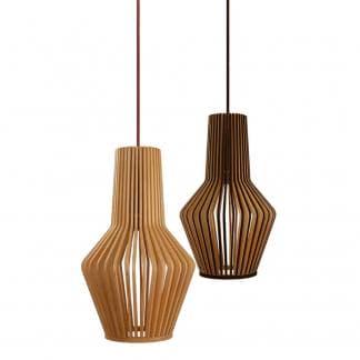 Lámpara de techo madera natural MINA y NINA BLACK