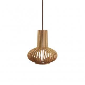 Lámpara de techo madera natural MIRIAM