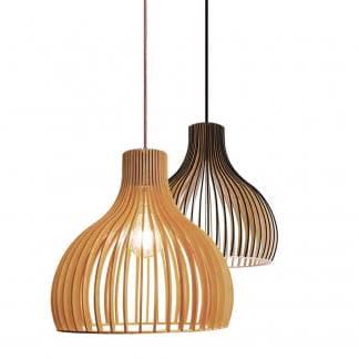 Lámpara de techo madera natural TILO y TILO BLACK