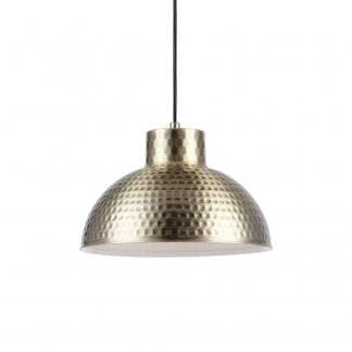 Lámpara de techo metálica bronce