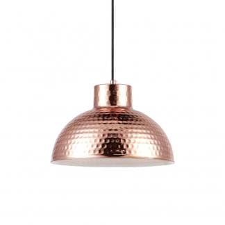 Lámpara de techo metálica cobre